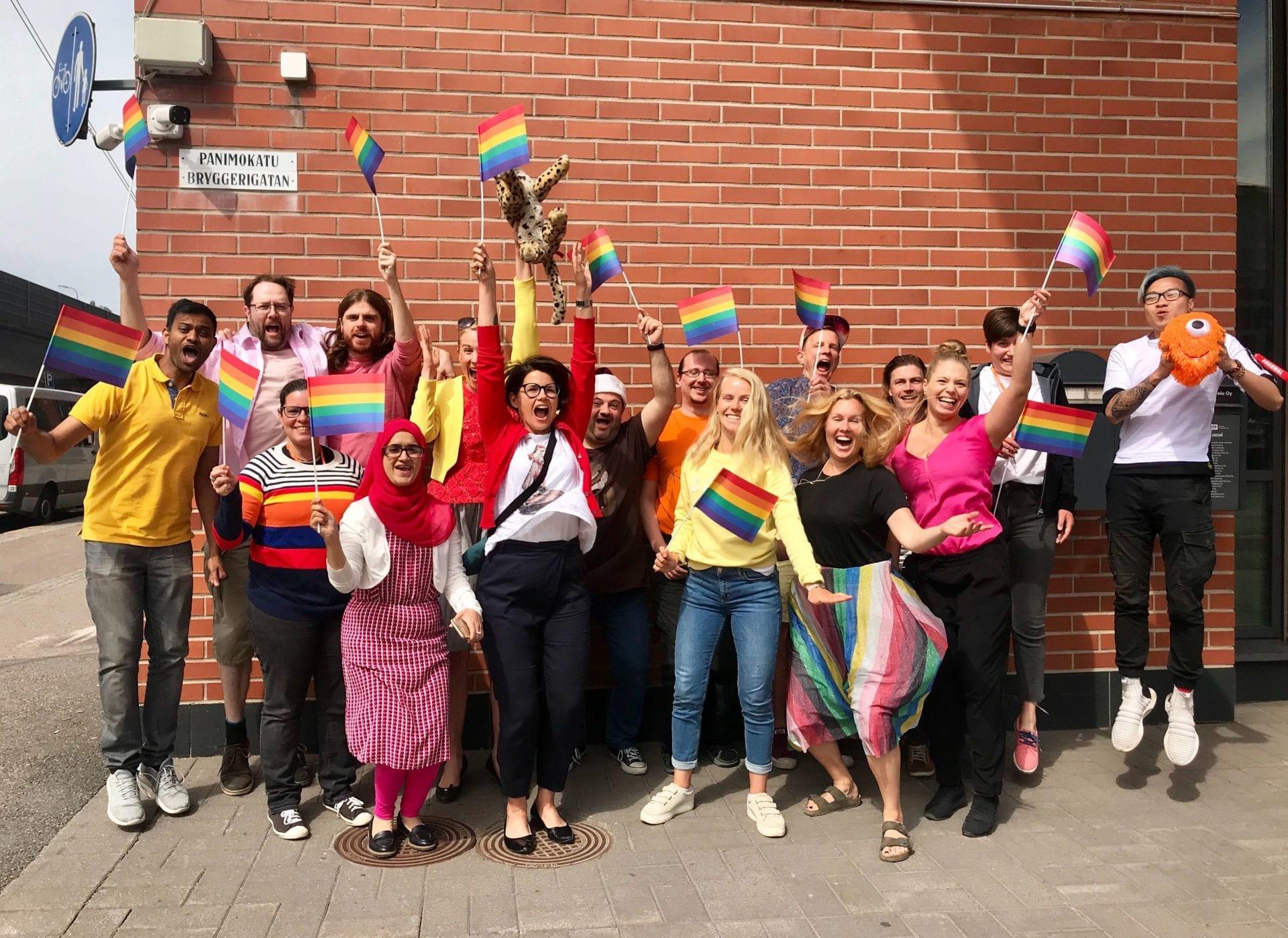 Frosmonauts support Pride