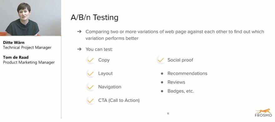 A/B/n testing