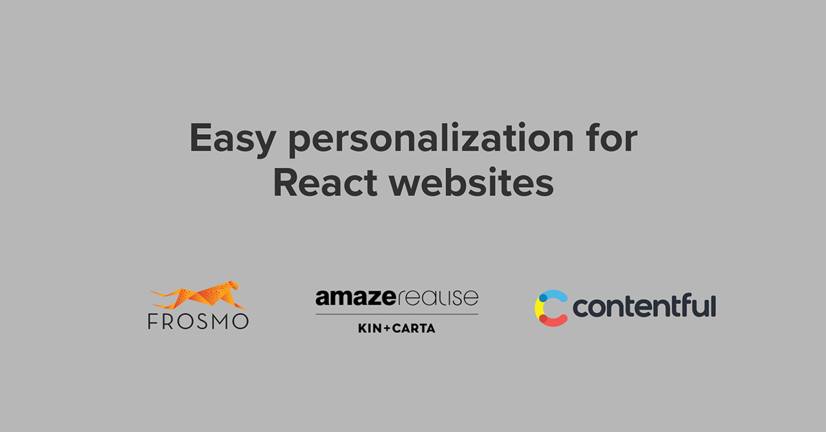 Frosmo with React
