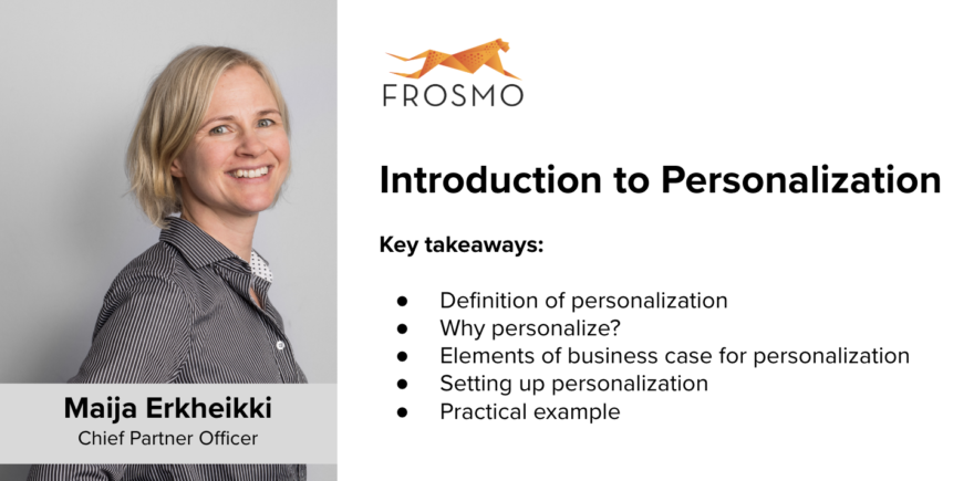 Introduction to personalization