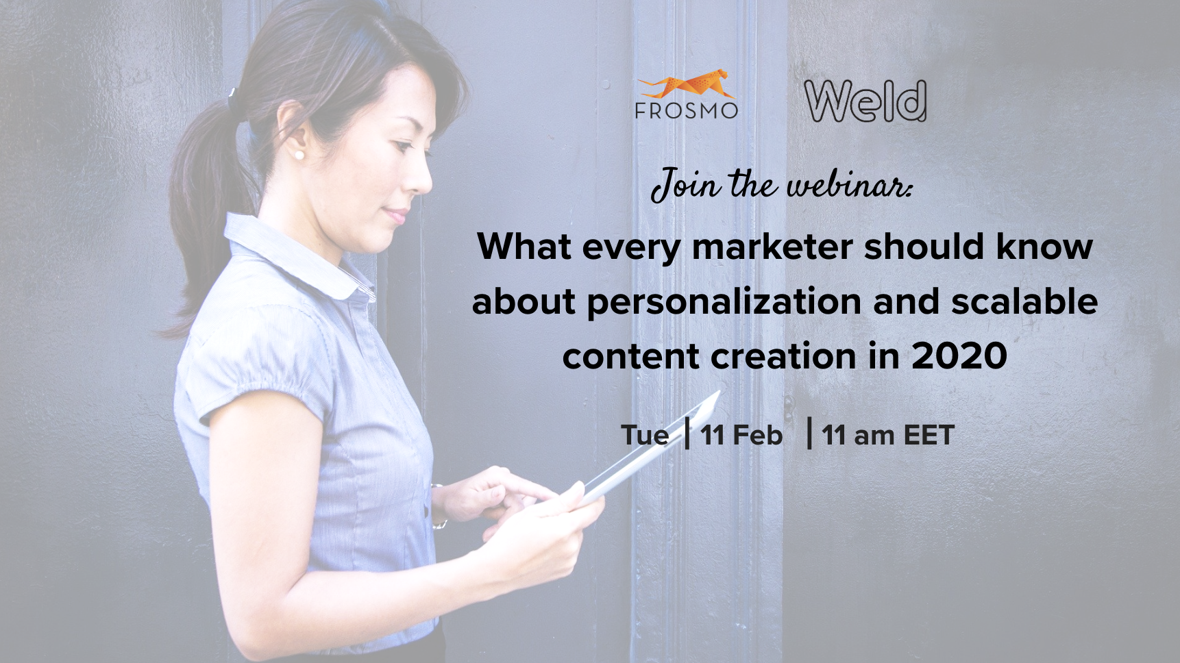 Webinar personalization and scalable content creation