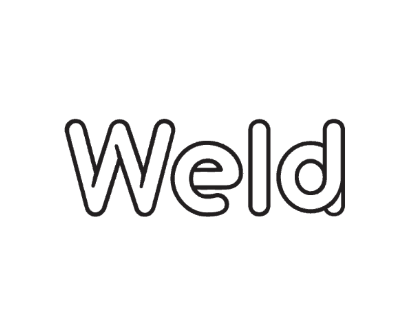 Weld logo in a box