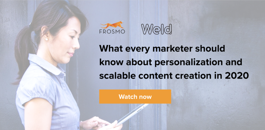 Webinar: Personalization with scalable content creation