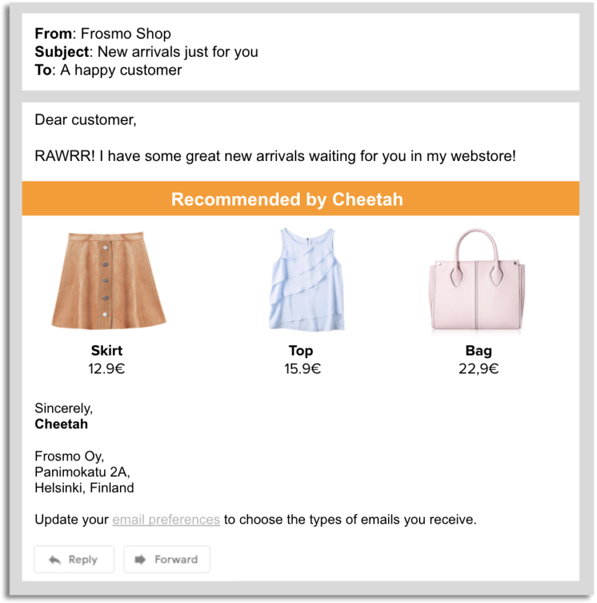 Add value with Frosmo Email recommendations