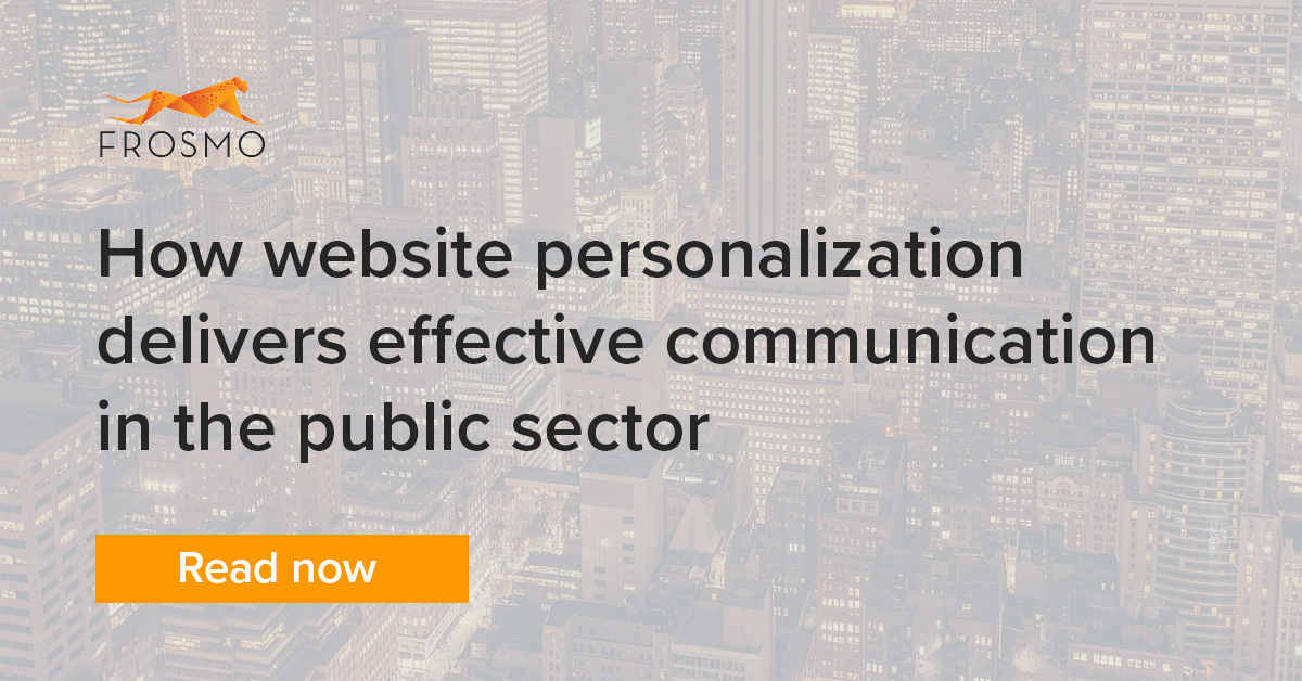 Website personalization in the public sector