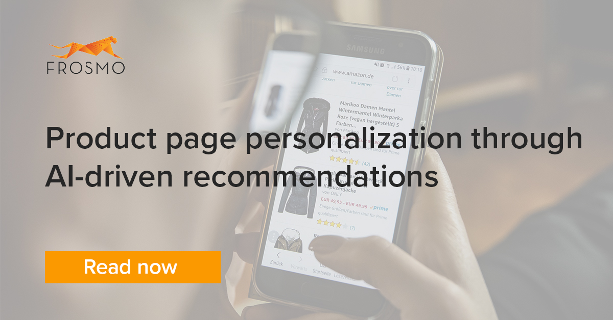 Product page personalization through AI-driven recommendations