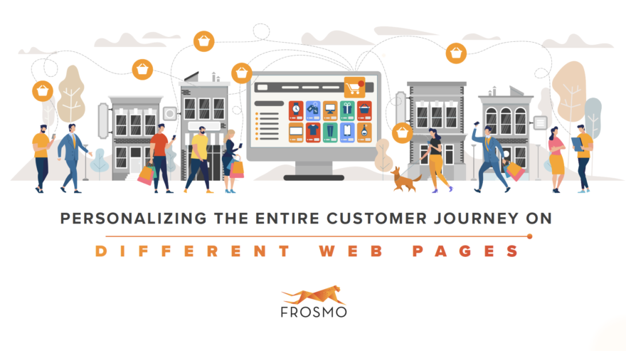 Personalization on different web pages