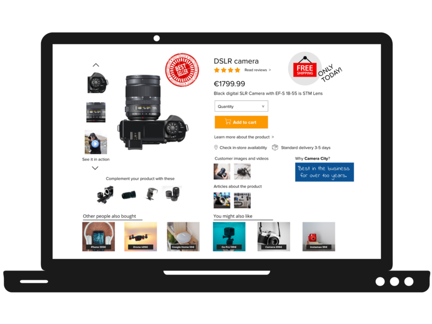 Product page — ensure that it's not a dead end