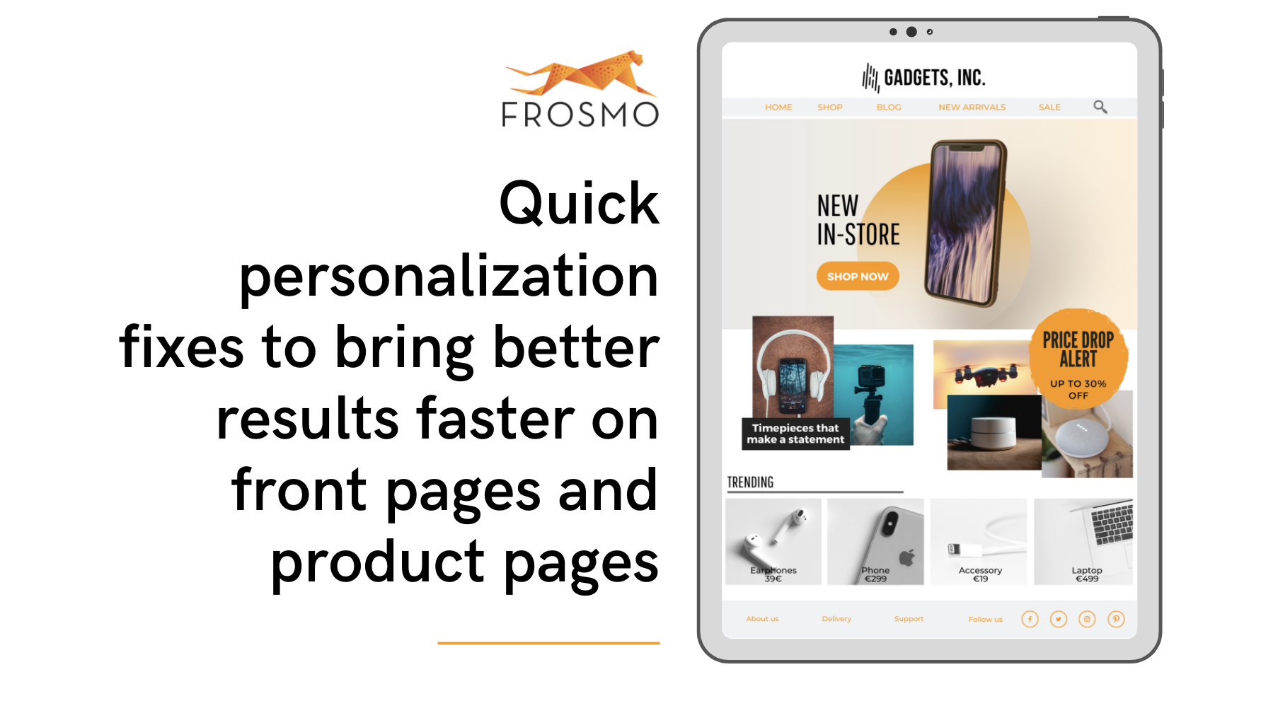 Quick personalization fixes to bring better results faster on front pages and product pages