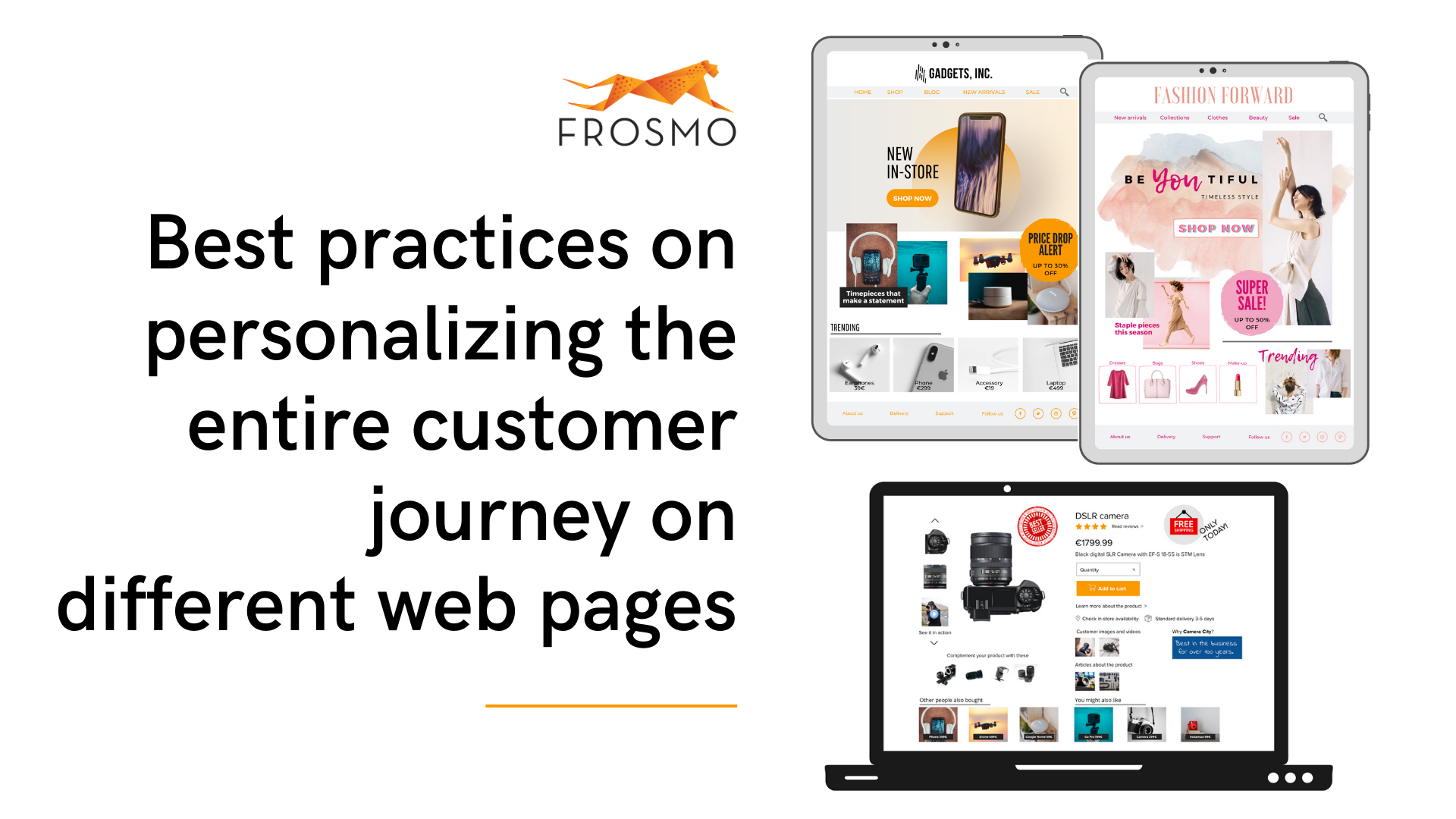 Best practices on personalizing the entire customer journey on different web pages